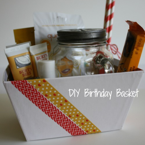Diy birthday basket gift life anchored for Easy diy birthday gifts