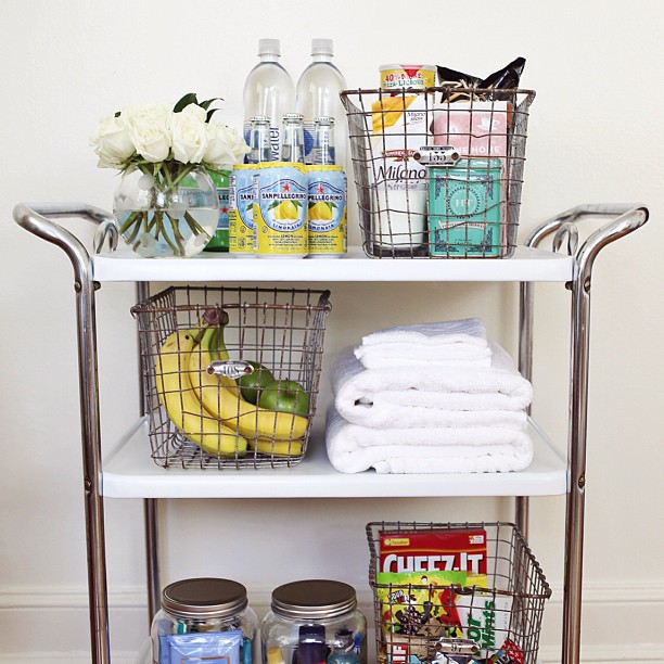 Diy Guest welcome Basket cart
