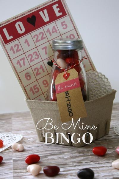 Valentines day game gift Be Mine Bingo