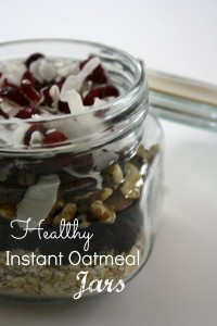 Healthy Instant Oatmeal Jars