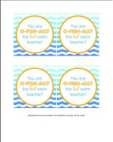 Swim Teacher Printable // Life Anchored