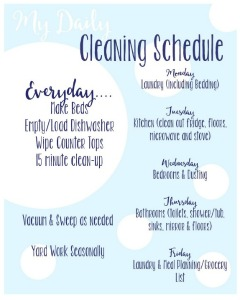 Cleaning Schedule Printable // Life Anchored
