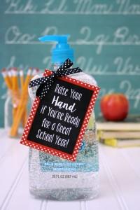 Back to School Teacher Gift under $5- Hand Sanitizer