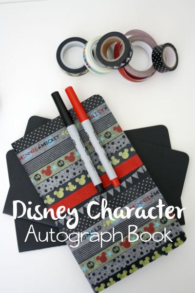 Disney Character Autograph Book DIY // Life Anchored
