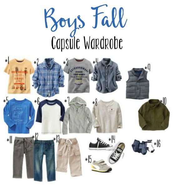 Boys Fall Wardrobe Capsule // Life Anchored #sp