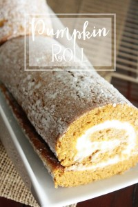 Pumpkin Roll Fall Dessert