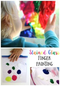 Stained Glass Finger Painting