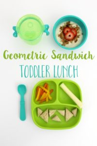 Geometric Sandwich Toddler Lunch