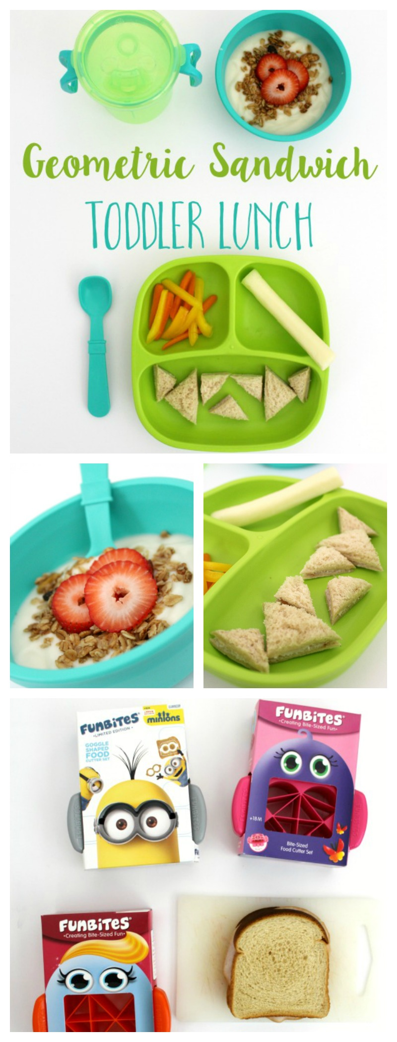Geometric Sandwiches Toddler Lunch // Life Anchored AD