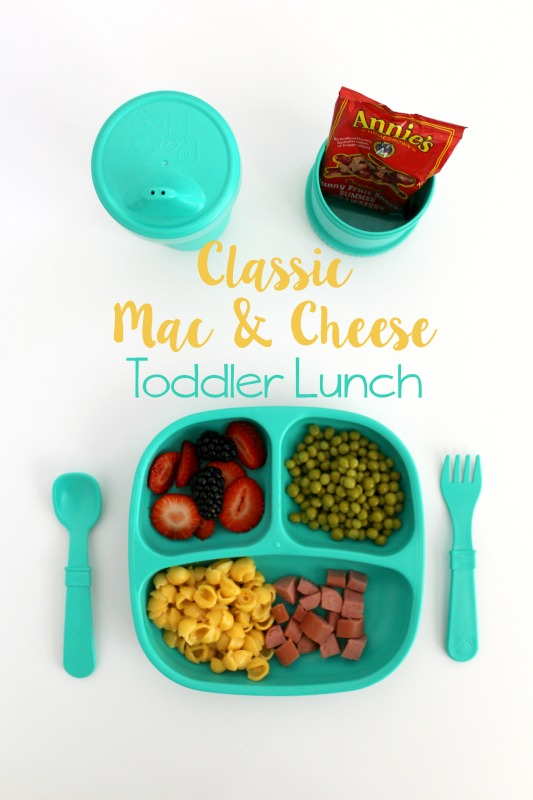 Classic Mac & Cheese Toddler Lunch // Life Anchored AD
