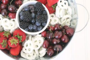 Red White and Blue 4th of July Fruit Platter