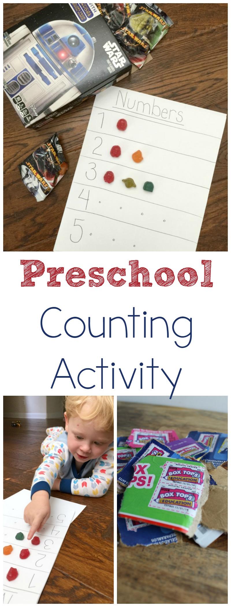 Preschool Counting Activity AD