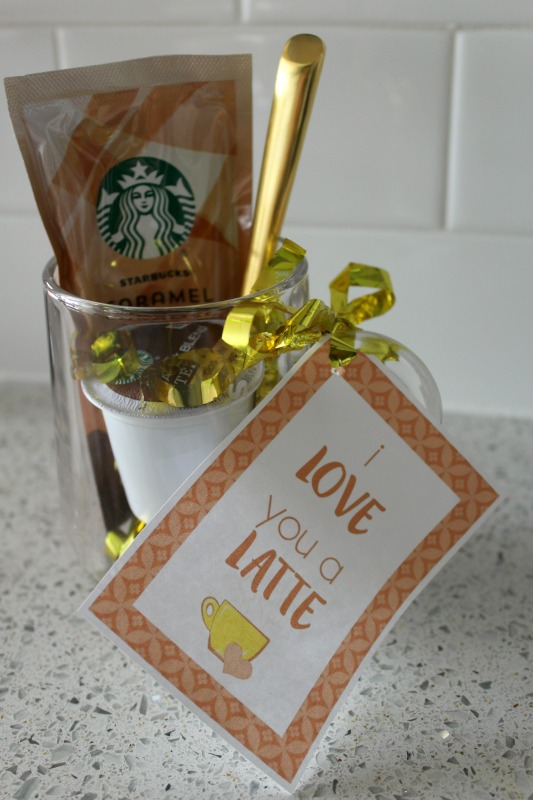 I love you a latte diy gift // Life Anchored AD #StarbucksCaffeLatte #MyStarbucksatHome