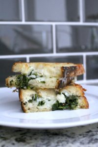 Spinach Artichoke Grilled Cheese Sandwiches