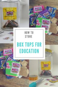 Box Tops for Education Jar