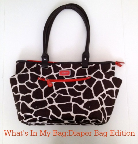 giraffe diaper bag carters