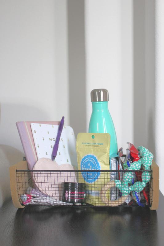 Nursing Station Breastfeeding Mom Essentials Basket // Life Anchored