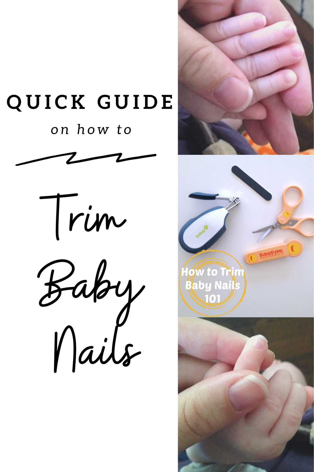 Quick Guide on How to Trim Baby Nails // Life Anchored