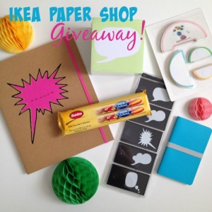 giveaway package from ikea paper shop