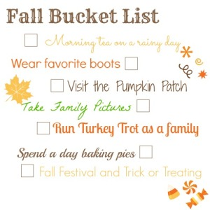 annual fall bucket list