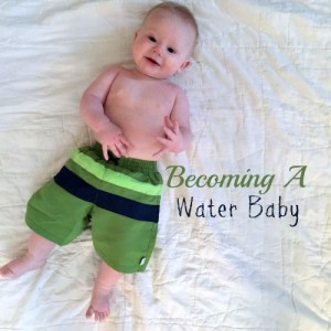 Ready for water baby class at emler