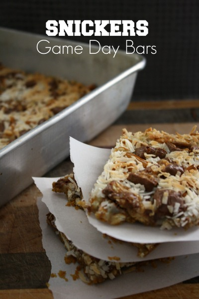 Snickers Game Day Bars #BigGameTreats #ad