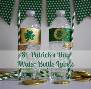 St. Patrick's Day DIY Water bottle labels // Life Anchored #stpatricksday