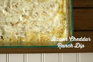 Bacon Cheddar Ranch Dip // Life Anchored #BigGameSnacks #ad