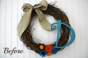 Spring Wreath DIY Before // Life Anchored #Spring