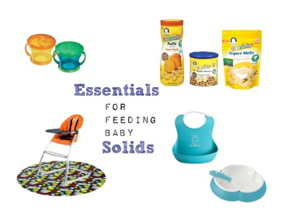 Essentials for Feeding Baby Solids Collage // Life Anchored #ad