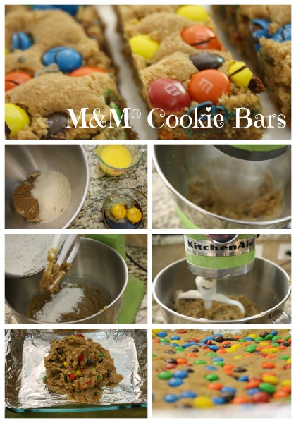 M&M® Cookie Bar Recipe // Life Anchored #GameNightIn #ad
