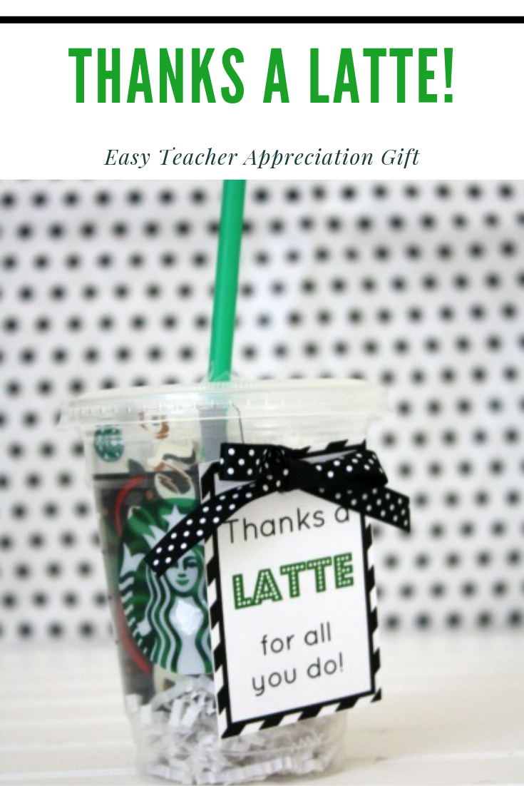 picture relating to Thanks a Latte Printable Tag referred to as Because of a Latte Appreciation Reward - Daily life Anchored