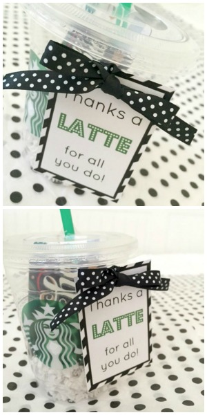 image relating to Thanks a Latte Printable Tag referred to as Because of a Latte Appreciation Reward - Everyday living Anchored