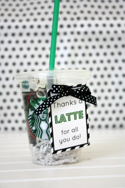 graphic about Thanks a Latte Printable Tag named Owing a Latte Appreciation Reward - Existence Anchored