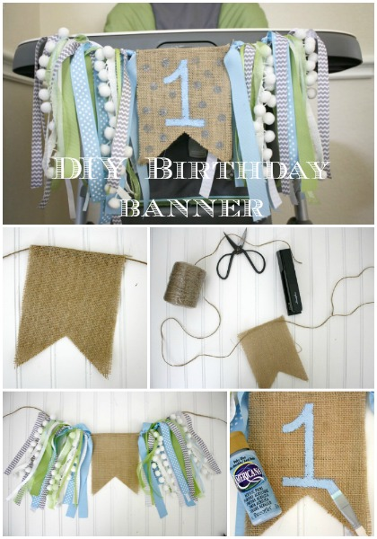 DIY high Chair Birthday Banner Tutorial // Life Anchored