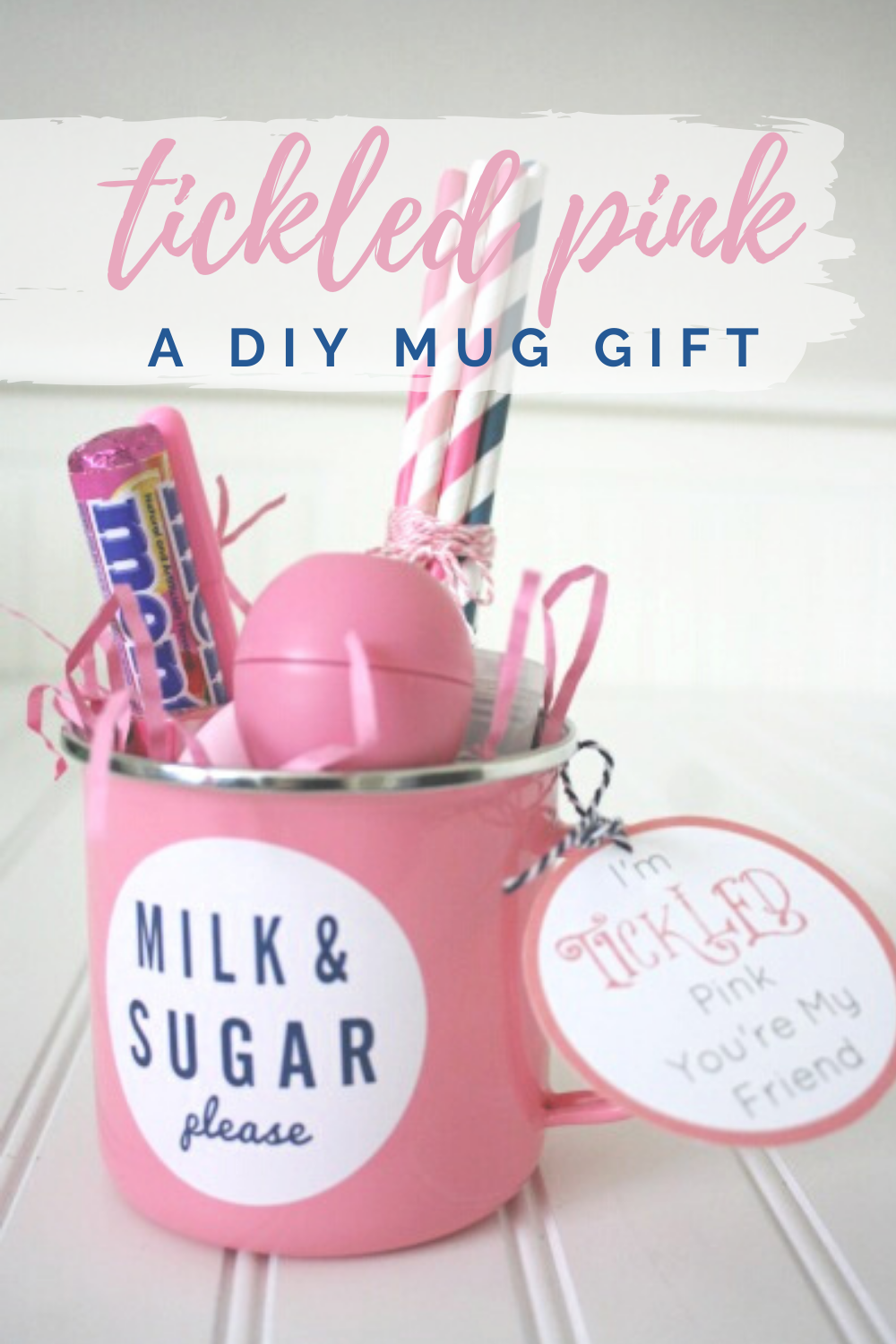 I'm Tickled Pink You're My Friend Mug Gift // Life Anchored