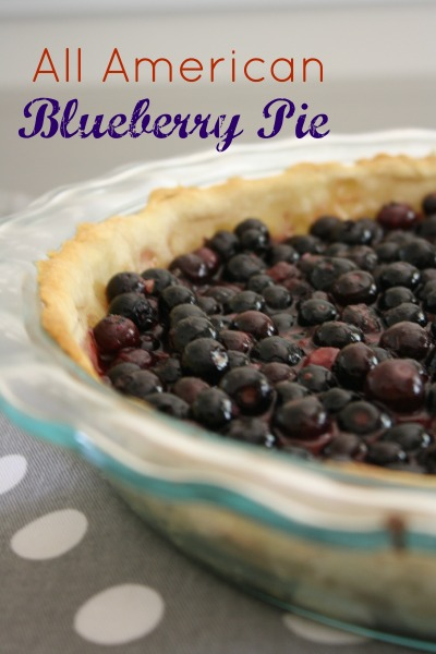 All American Blueberry Pie // Life Anchored #4thofjuly #america