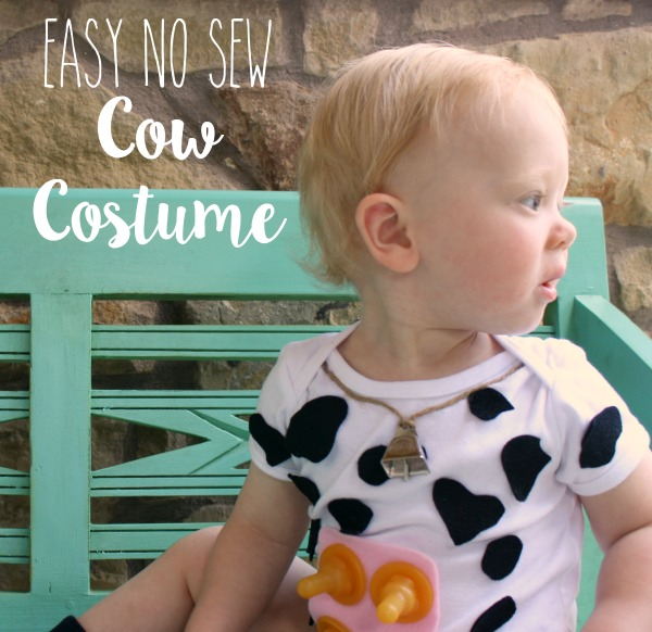 picture about Cow Costume Printable named Straightforward No Sew Cow Gown for Little ones - Everyday living Anchored