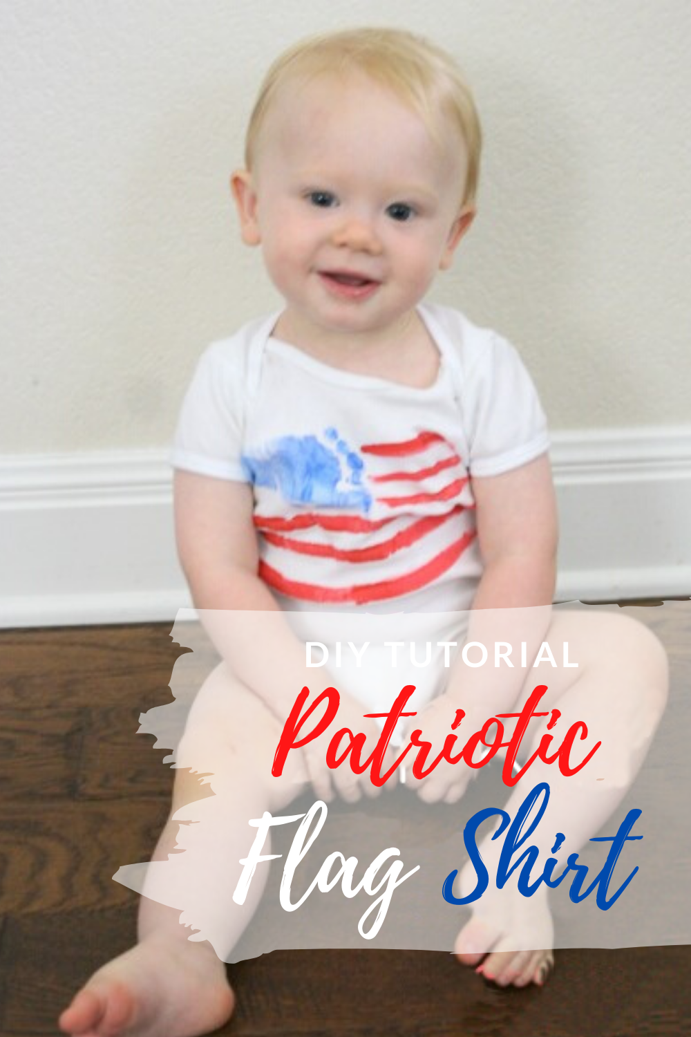 DIY Kid's Patriotic Flag Shirt // Life Anchored