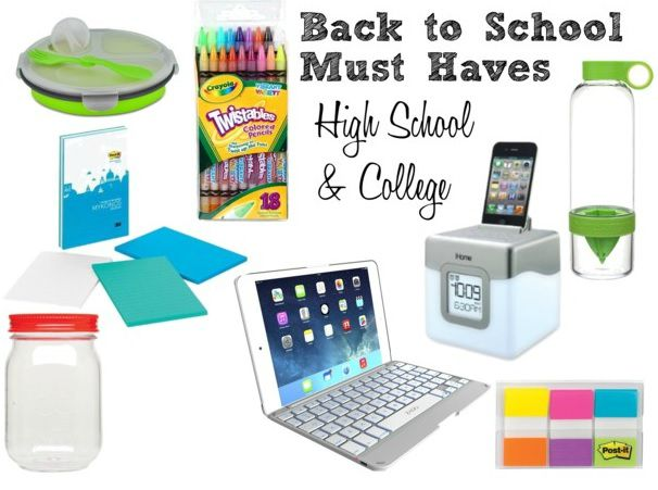 Back to School Must Haves High School & College // Life Anchored