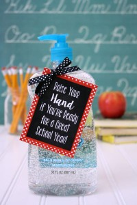 Back to School Teacher Gift under $5- Hand Sanitizer