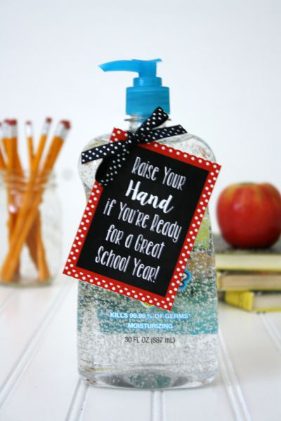Hand Sanitizer Back to School Teacher Gift under $5 // Life Anchored #backtoschool