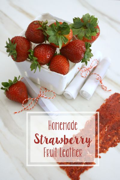 Homemade Strawberry Fruit Leathers // Life Anchored #backtoschool