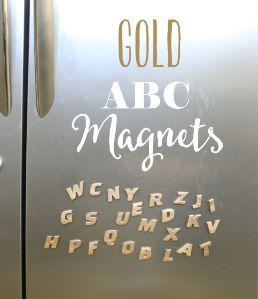 Glam ABC Magnets // Life Anchored