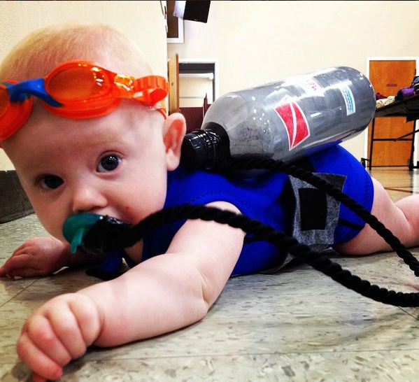 Baby Scuba Diver Costume // Life Anchored