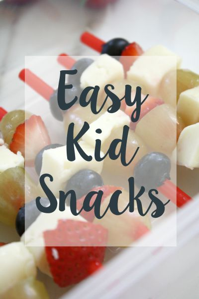 Easy Kid Snacks // Life Anchored #sp