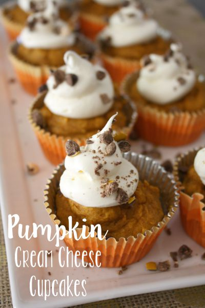 Easy Pumpkin Cream Cheese Cupcakes // Life Anchored #sp #BakeInTheFun