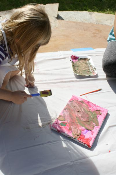 Toddler Art Party // Life Anchored #sp