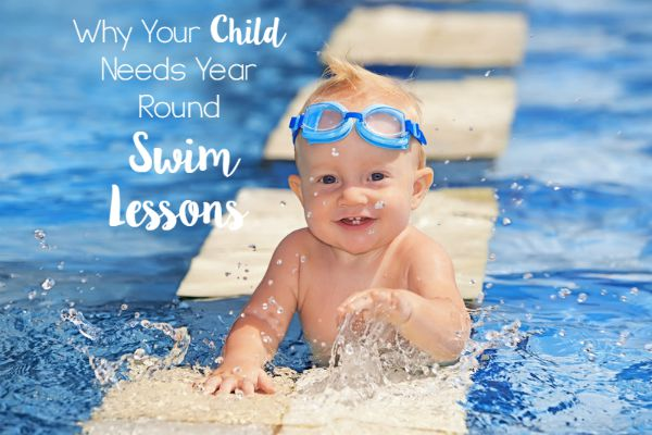 Why Your Child Needs Year Round Swim Lessons // Life Anchored #sp