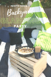 How to Throw a Backyard Glamping Party // Life Anchored